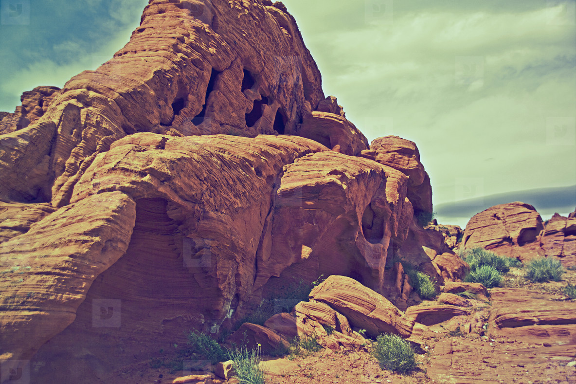 Desert rock formation
