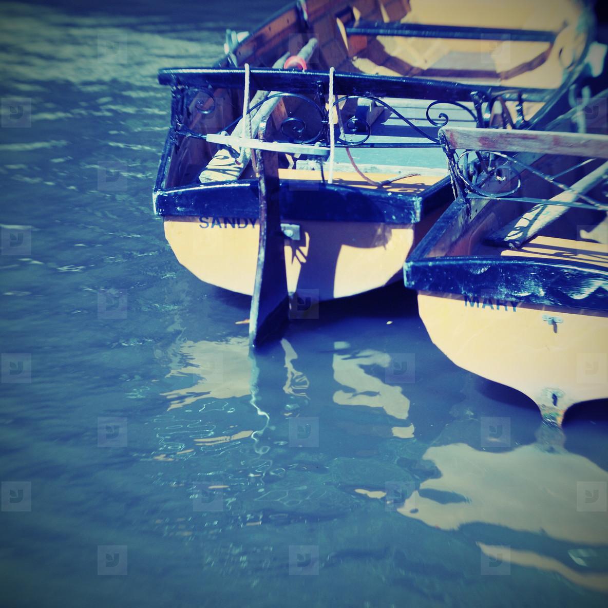 vintage row boats