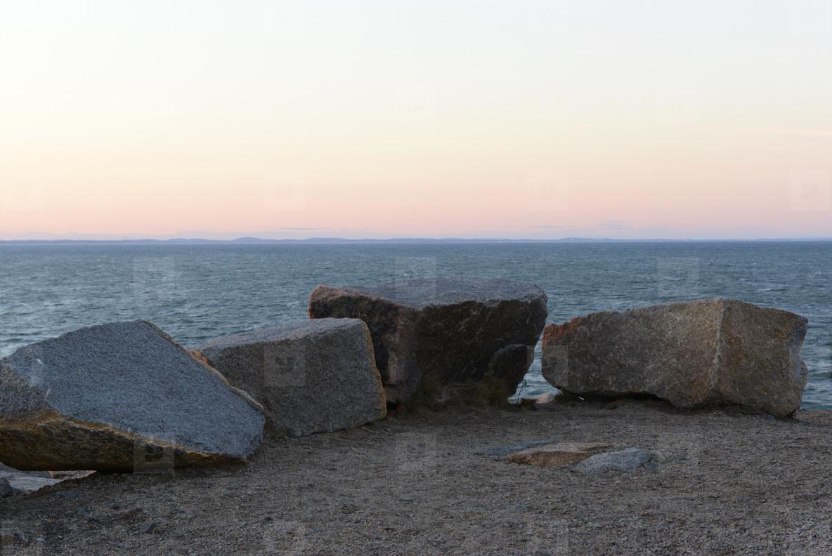 Rocks at horizon
