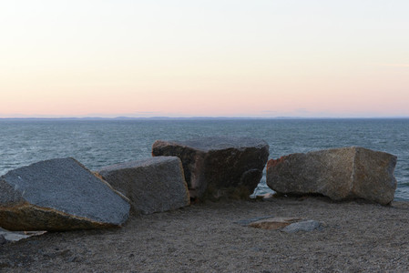 Rocks at horizon