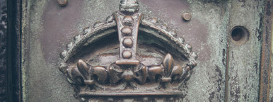 Crown on a gate