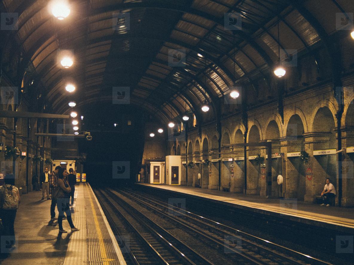 London overground at night