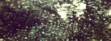 Water on car window