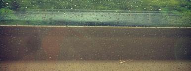 Car window rain drops