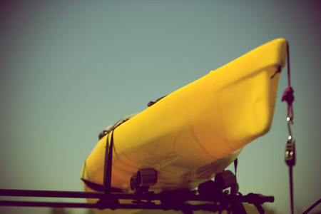 Kayak on roof rack