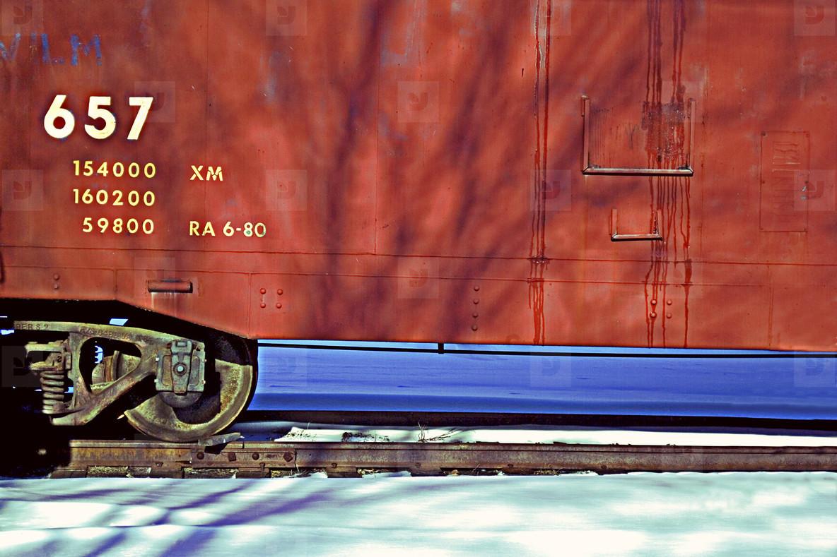 Train storage car
