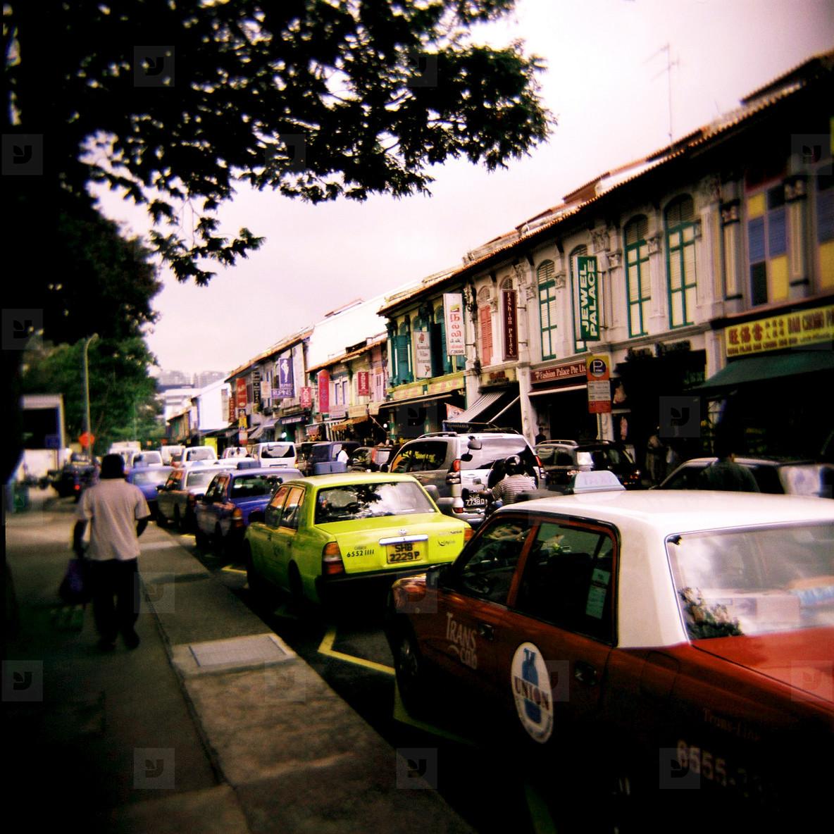 Busy Asian Street