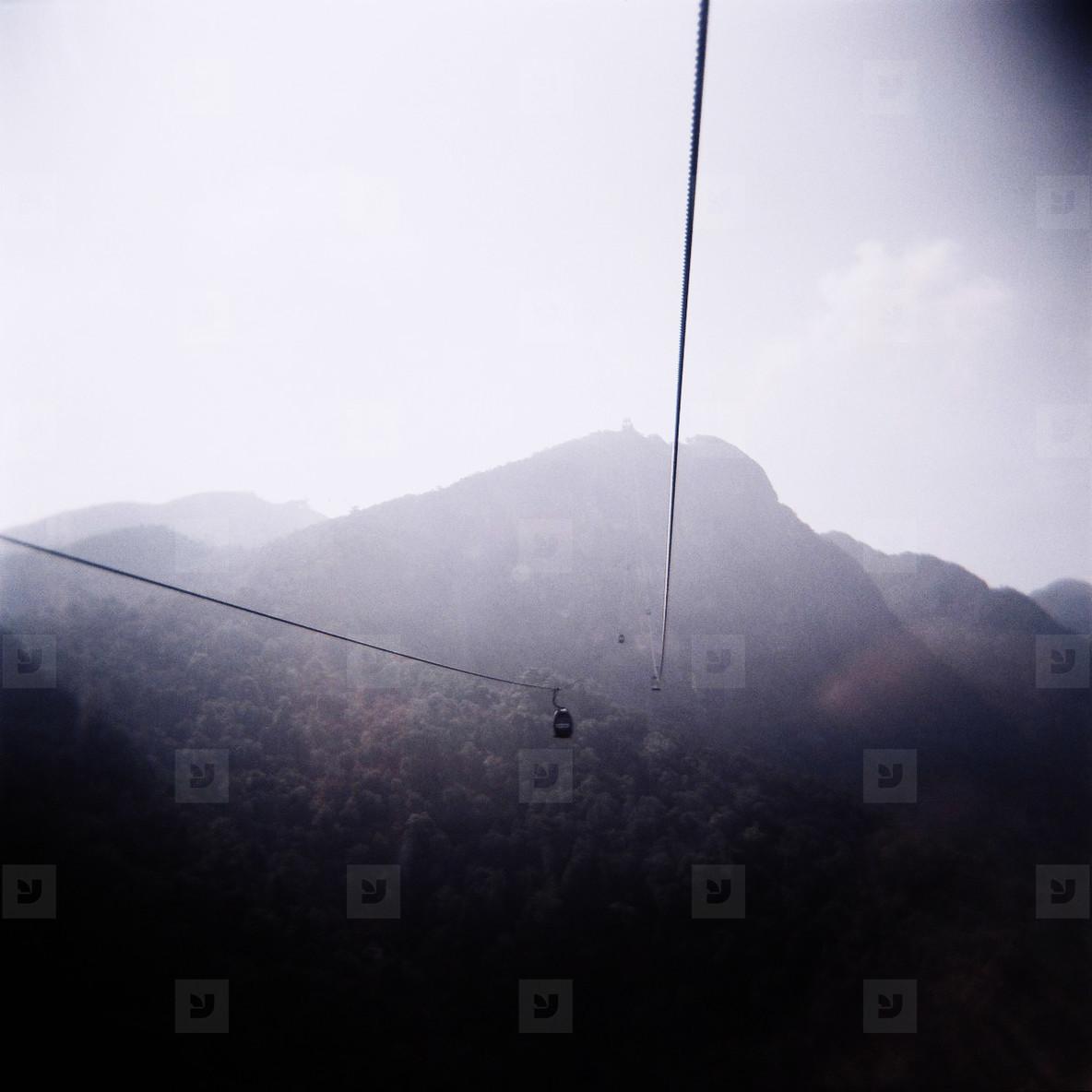 Gondola above jungle