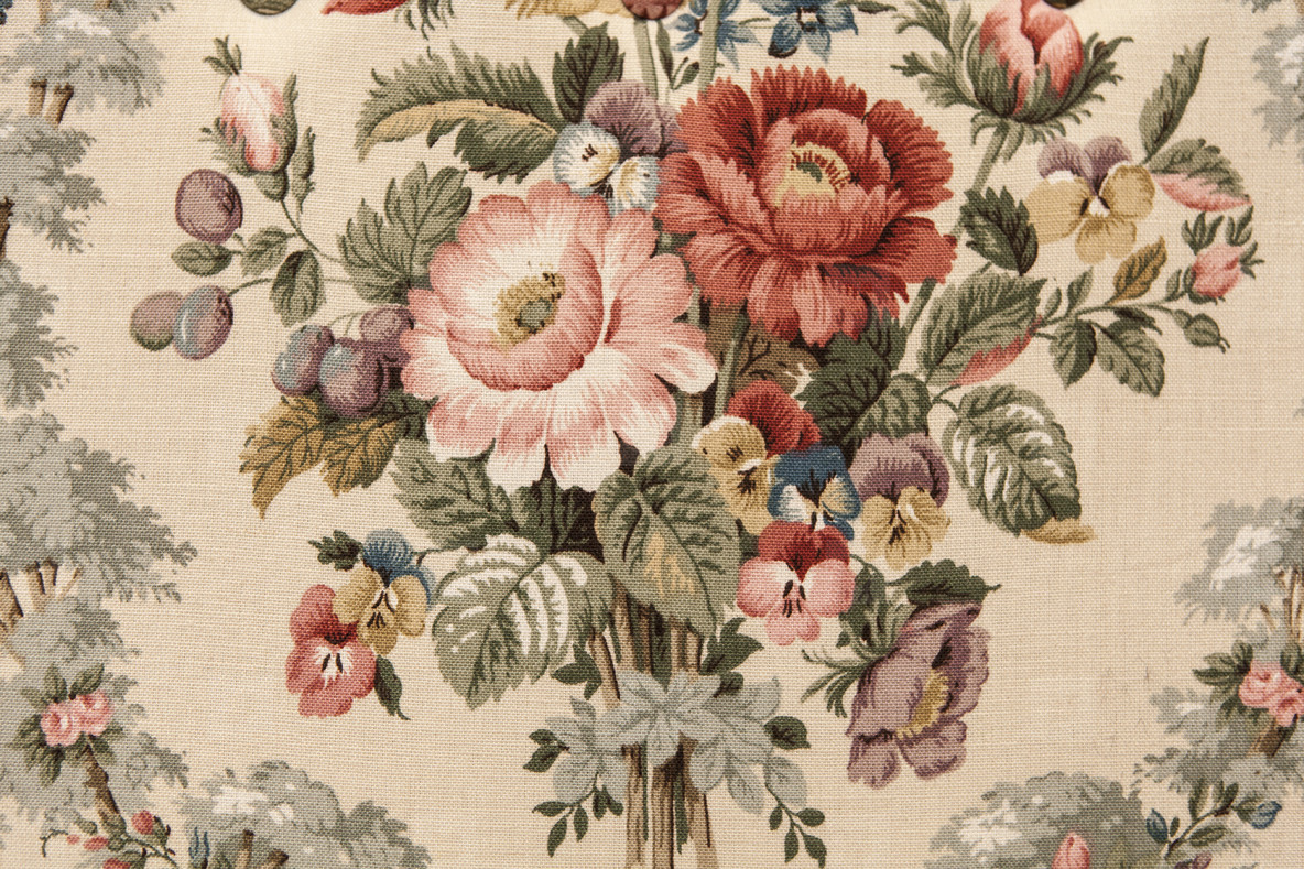 Photos - Vintage Floral Fabric Pattern 40326 - YouWorkForThem