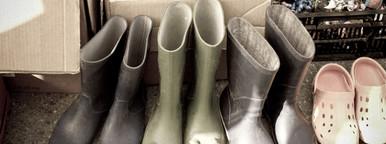 plastic boot