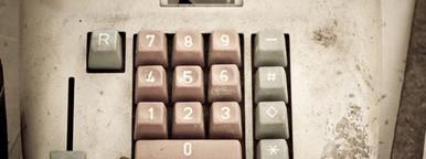 vintage calculator keyboard