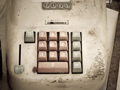 vintage calculator keyboard