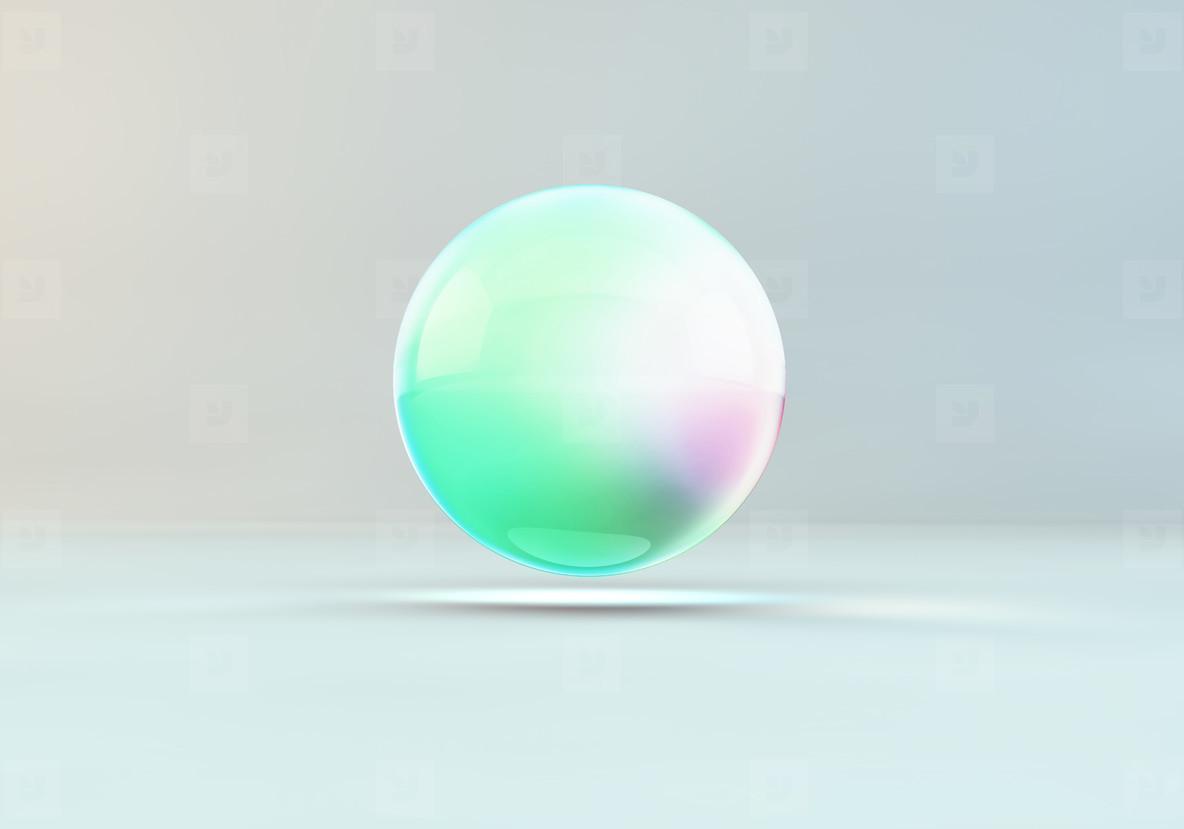 floating colour drop