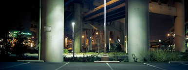 City Parking Lot at Night