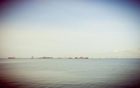 Cargo Ships at Dock