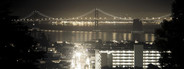 San Francisco with Bay Bridge