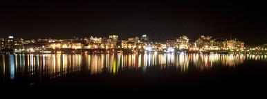 Night Shot of Victoria  BC