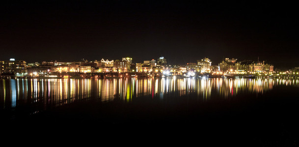 Night Shot of Victoria  BC