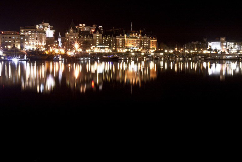Night Shot of Victoria  BC II