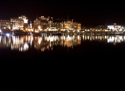 Night Shot of Victoria  BC II