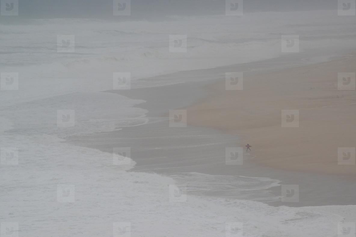 Foggy beach