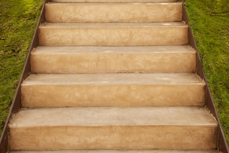 Old staircase made of stone