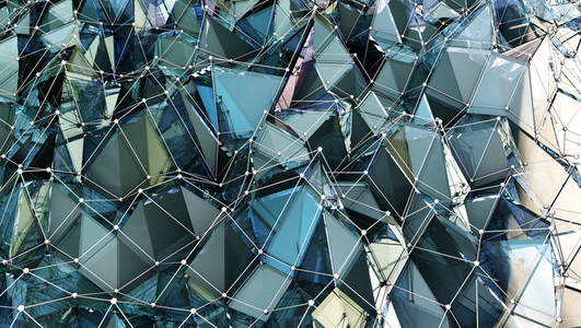 Sapphire Polygonal Surface