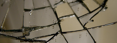Shattered mirror closeup