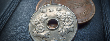 Japanese money  silver coin  yen