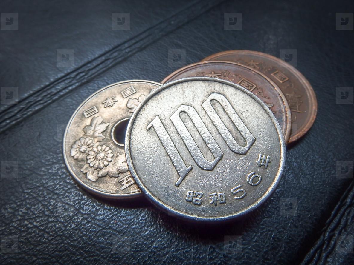 Japanese money  silver coin  yen
