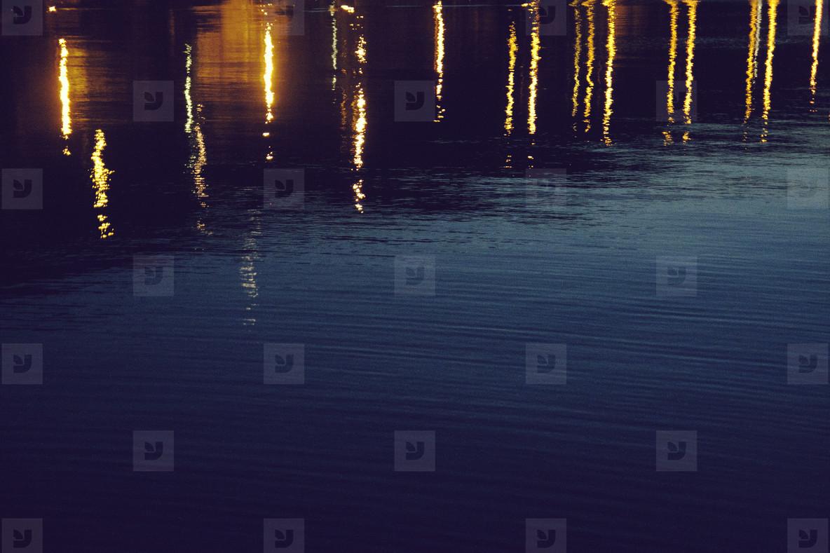 Lights on the night sea
