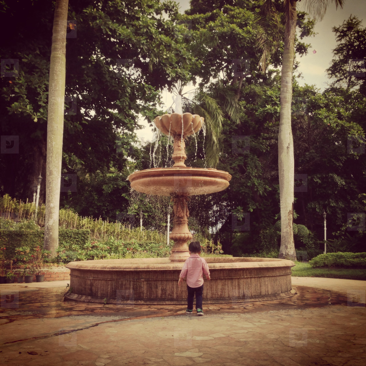 Child at Fountain