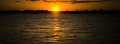 Peacefull sunset on water