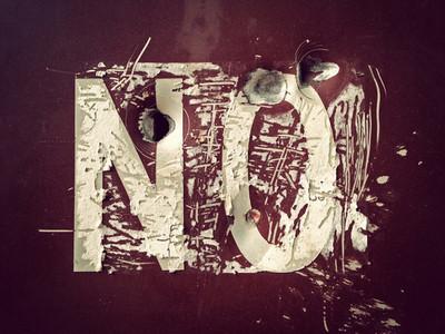 Grunge lettering on sign