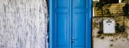 Decorative Blue Door