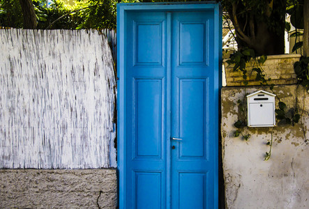 Decorative Blue Door