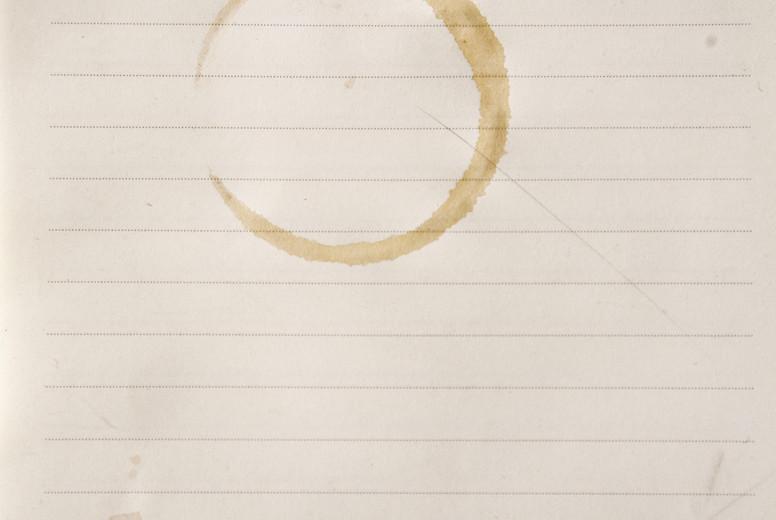 coffee spot on paper