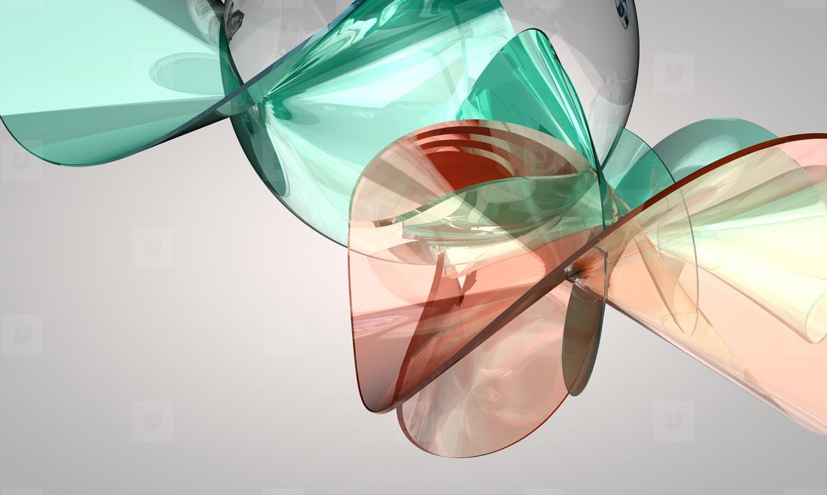 crystal glas  twist flower