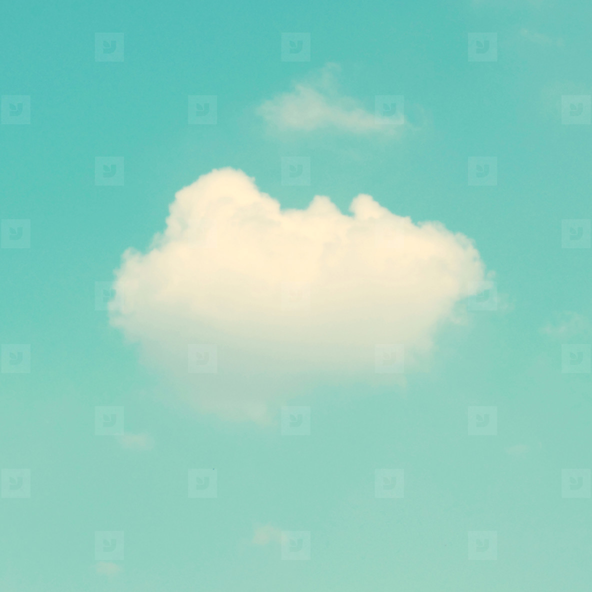 Retro cloud and sky