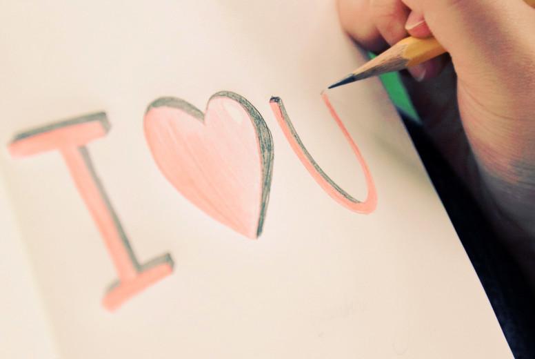 handwriting  i love you