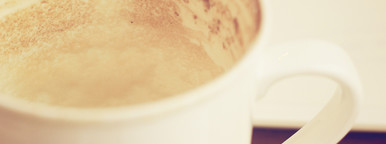 Close up of empty coffee cup