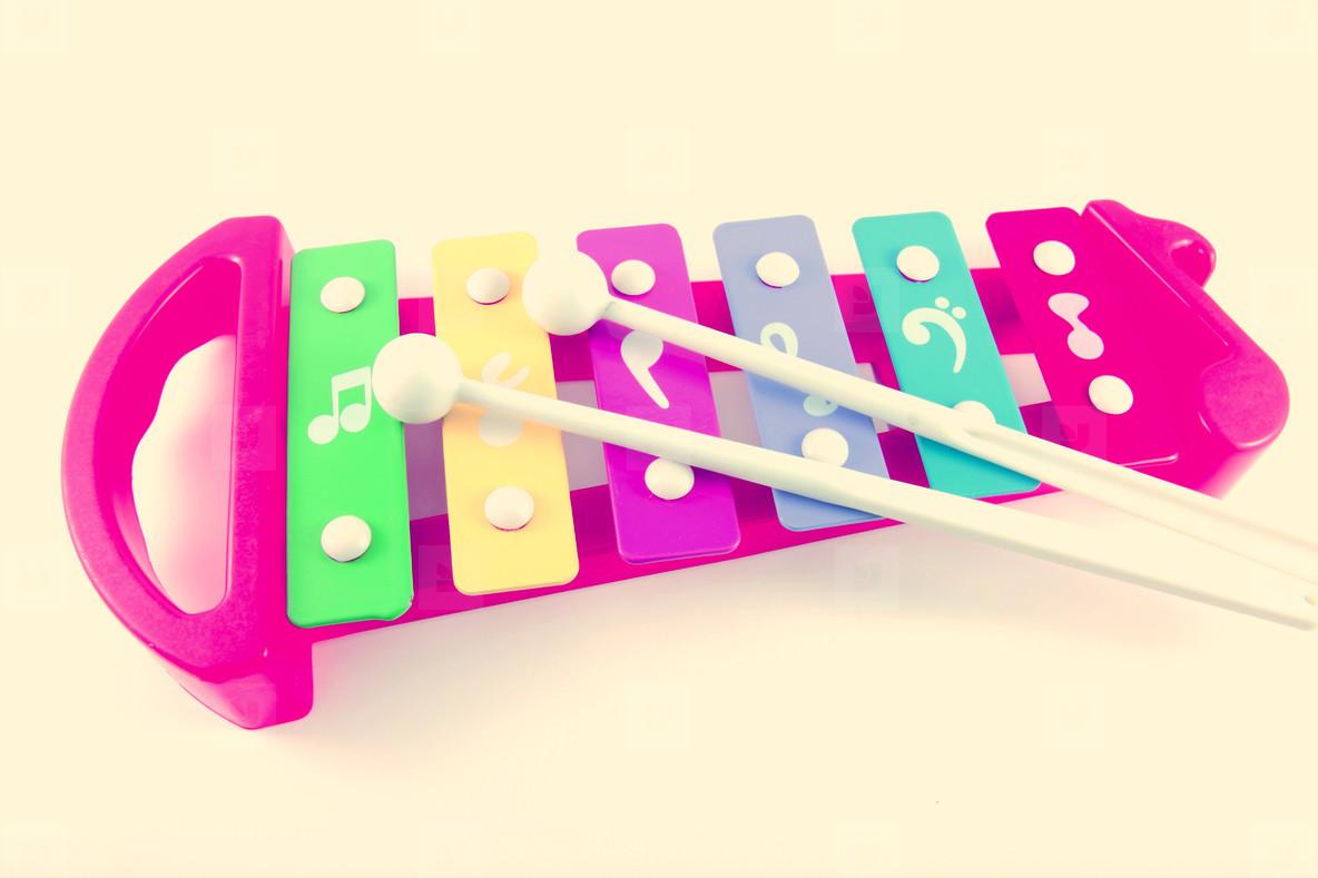 Retro toy xylophone