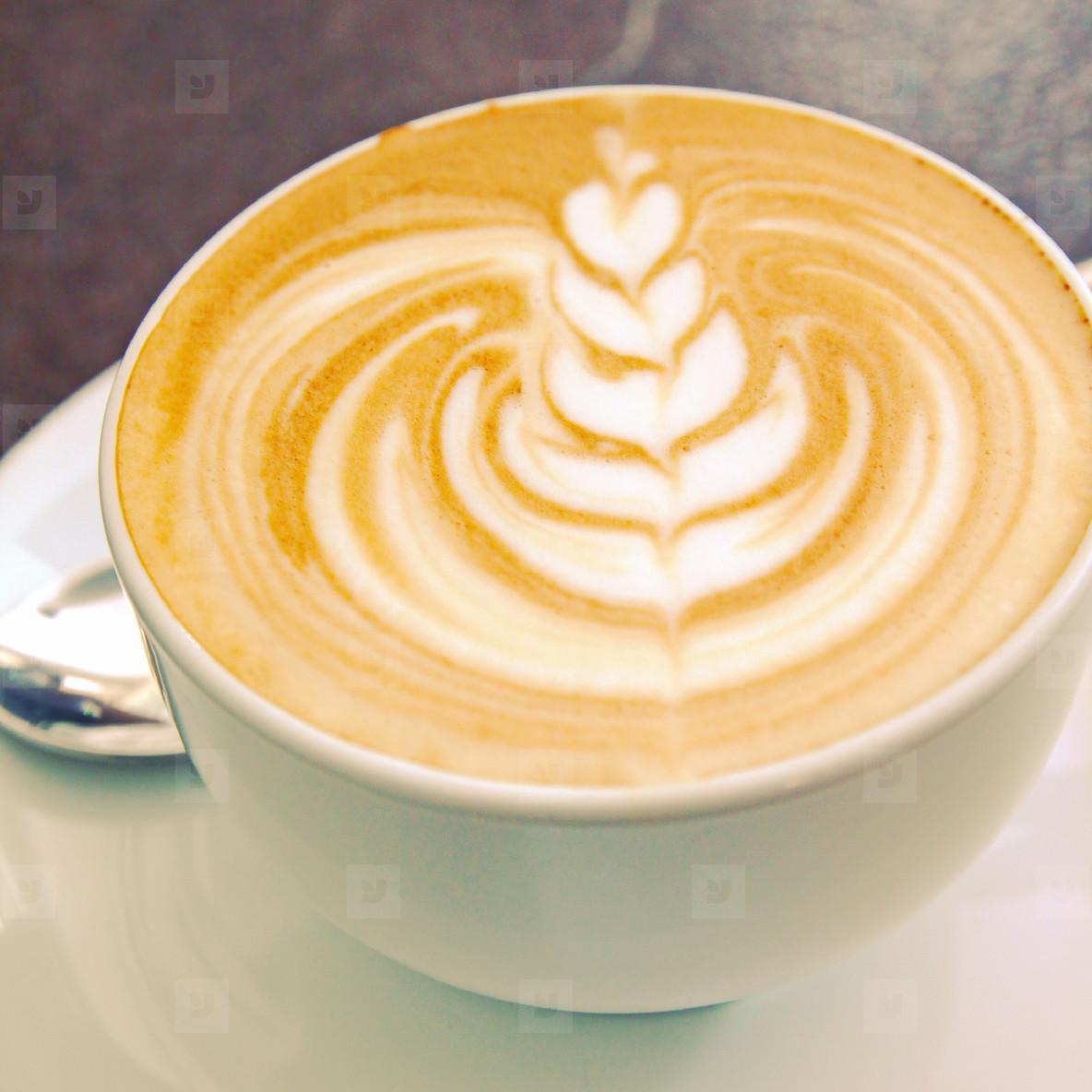 Cappuccino or latte art coffee
