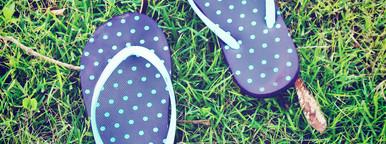 blue polka dot sandal