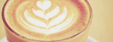 Cup of art latte