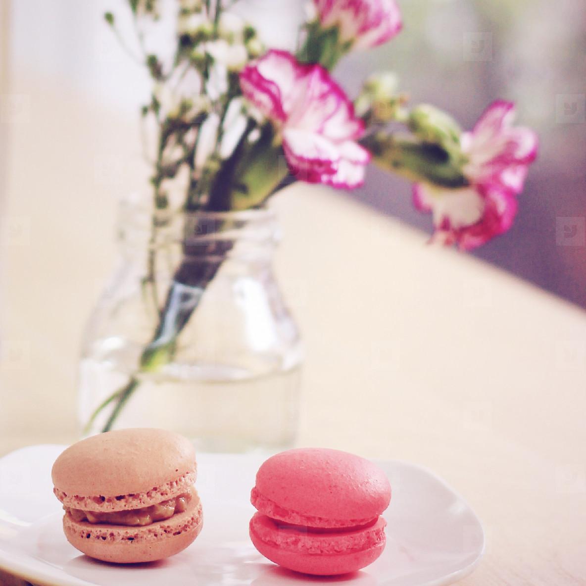 Tasty sweet macaron