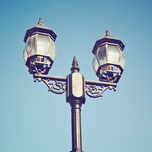 Old vintage street light