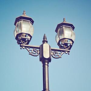 Old vintage street light
