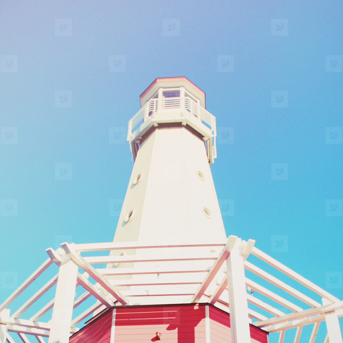 Lighthouse with blue sky