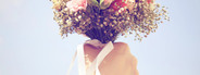 Bouquet of flower in hand and